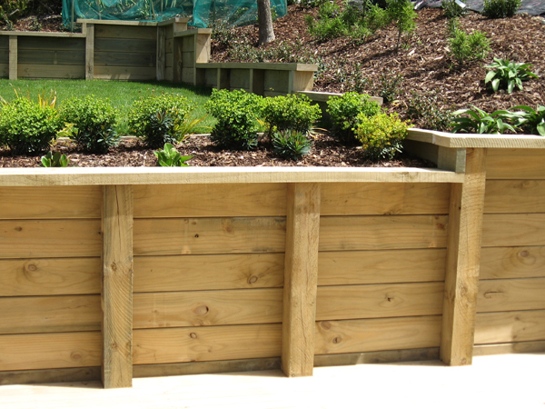 Delightful Preservative (pressure) Treated Wood Is Among The Most Common Materials  Used In The Construction Of Retaining Walls. Ground Contact Rated Is  Standard For ...
