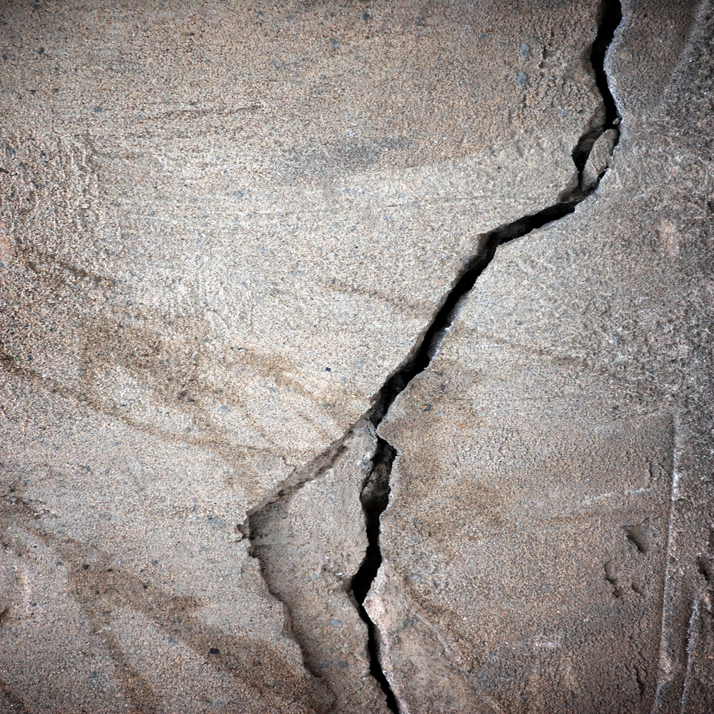 Patch cracks in foundation