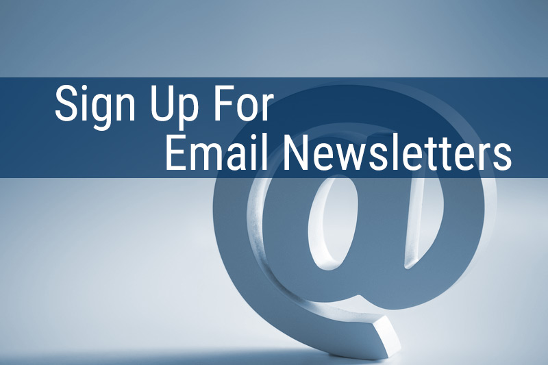 Sign Up For Email Newsletters Button