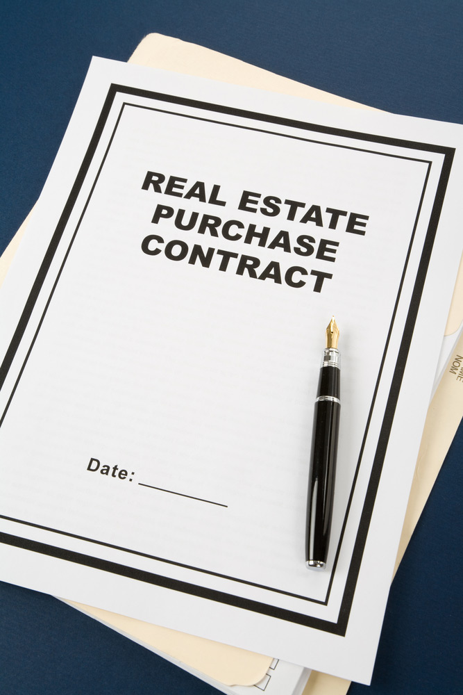 Photo of Real Estate Purchase Contract that is the result of Pre-Purchase / Pre-Mortgage Inspections