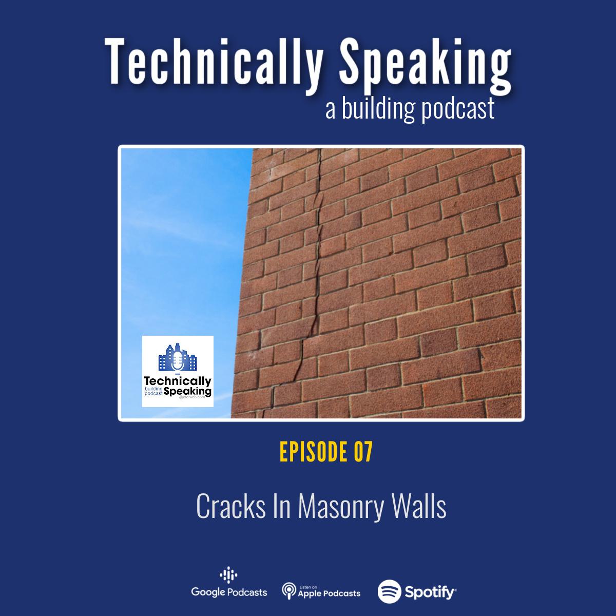 Podcast Art Cracks in Masonry Walls
