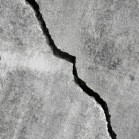 crack in concrete